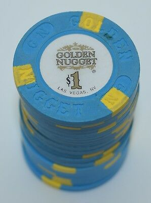 Set of 20 Golden Nugget $1 Casino Chip Las Vegas Nevada House Mold Paul-son 1996