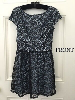 3bd20d23a0df Three Pink Hearts - Blue and Black Lace - Homecoming Dress - Juniors -  Kohl s