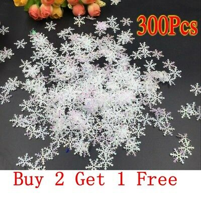 300Pc Shiny Snowflake Table Confetti Birthday Party Wedding Decoration Ornament
