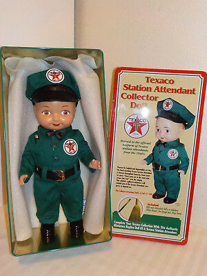Texaco Station Attendant Collector Doll * Excellent In Original Tin Box