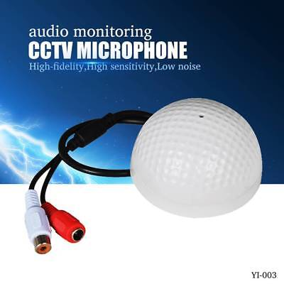 CCTV Microphone Golf Shape Audio Pickup Device High Sensitivity Audio Monitoring