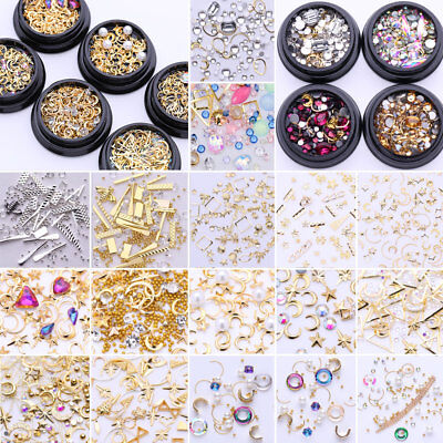 3D Crystal Gems Strass des Ongles Nail Art Decoration Charms Manucure Stickers