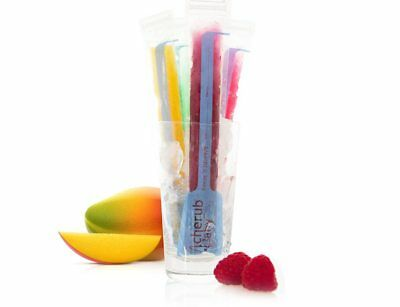 Reusable Freeze n Squeeze Ice Pop Pouches 20pk (icy pole / ice block moulds)