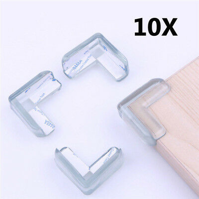 10Pcs Baby Child Safe Silicone Protector Table Corner Edge Protection Cover Safe