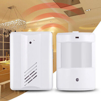Motion Door Entry Welcome Sensor Chime Driveway Shop Bell Alert PIR Visitor UK