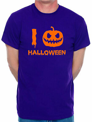 I Love Halloween Scary Zombie Fancy Dress Ghost Scary Funny Mens T-Shirt
