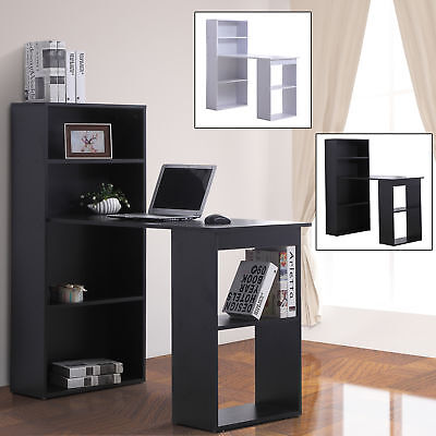 "47"" Modern Computer Desk and Bookshelf Set Writing Workstation Home Office"