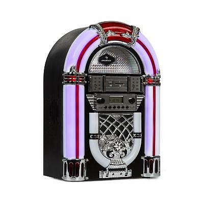 Juke box Mini Bluetooth Radio USB Modernariato Vintage Lettore CD Smartphone
