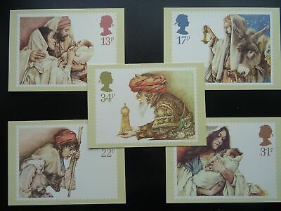 Post Office CHRISTMAS POSTCARD SET c1984 PHQ 80 (a) 11/84 Design by Y. Gilbert