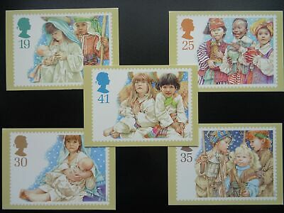 Post Office CHRISTMAS POSTCARD SET c1994 PHQ 166(c) 11/94 Design by Y. Gilbert