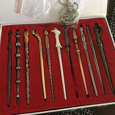 11PCS Harry Potter Hermione Dumbledore Voldemort Magic Wands Halloween Cosplay