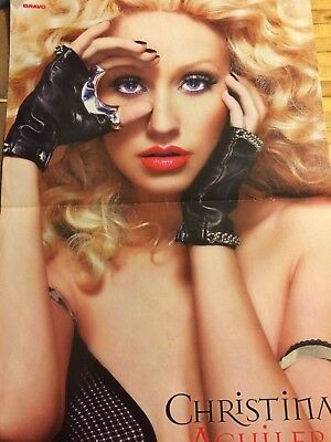 Christina Aguilera, Kristen Stewart, Double Two Page Centerfold Poster
