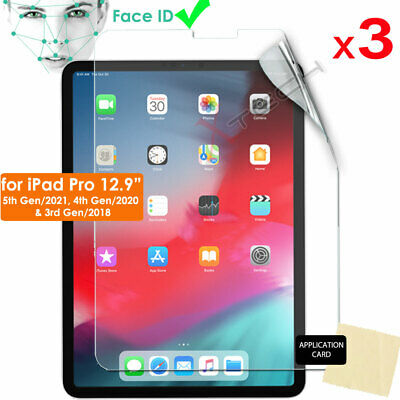 """3x ULTRA CLEAR LCD Screen Protector Cover for New Apple iPad Pro 12.9"""" 2018"""