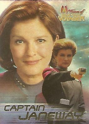 "Women Of Star Trek Voyager HoloFEX - ""Captain Janeway"" Promo Card"