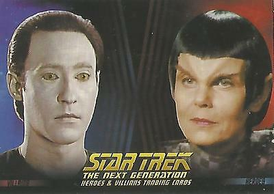 "Star Trek Next Gen TNG Heroes & Villains - P2 ""Non-Sport Update"" Promo Card"