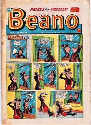 BEANO # 1078 March 16th 1963 comic the issue