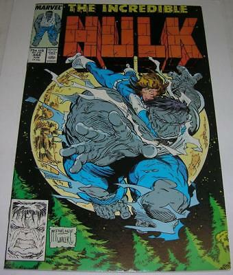 INCREDIBLE HULK #344 (Marvel Comics 1988) Todd McFarlane cover & art (VF-)