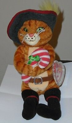 04b3c6d84c8 NMT  Ty Beanie Baby ~ PUSS IN BOOTS (Shrek The Halls) Promo Exclusive