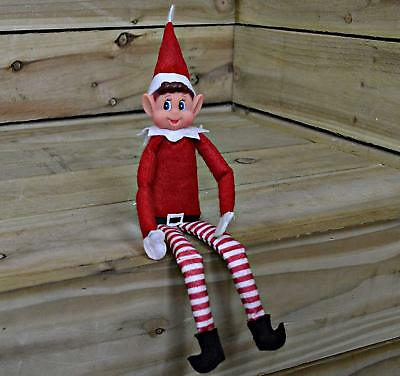 "Red Naughty Elf Elves Behavin Badly On The Shelf A Boy 12"" Prop Doll Birthday"