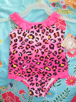 NEW OP One Piece Swimsuit Pink Baby Girls Size 6-9 Months