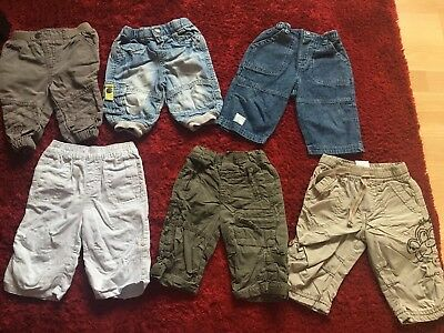 Bundle Of Baby Boys Trousers/ Jeans. Age 3-6 Months. VGC