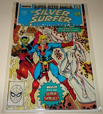 The SILVER SURFER ANNUAL # 1 Marvel Comic (1988)  FN  Evolutionary War