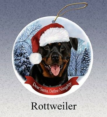 Define Naughty Ornament - Rottweiler