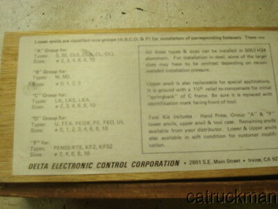 Delta Electronic Control Corp. Safety Wire Crimp Tag Set