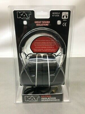 New KAT Percussion KTUI26 Ultra Isolation Headphones, Black