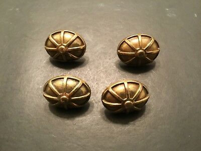 VINTAGE/ANTIQUE LOT OF FOUR BRASS DRAWER/CABINET PULLS- KBC Numbered -38490
