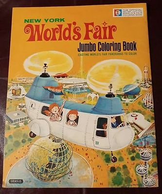 OFFICIAL NEW YORK WORLD's FAIR JUMBO COLORING BOOK 1964-1965 SPERTUS PUBL