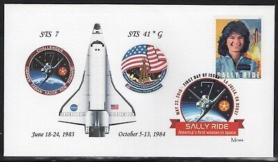 SALLY RIDE * FIRST AMERICAN WOMAN IN SPACE * FIRST DAY COVER of 2018