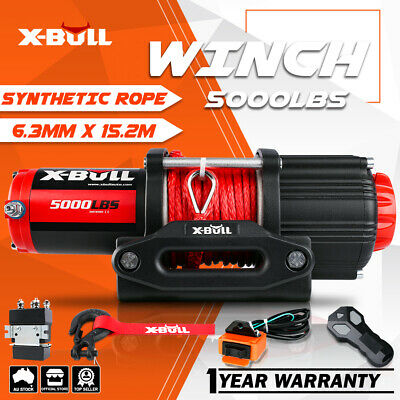 X-BULL 4500LBS/2041kg Electric Winch ATV 2 REMOTES 12V Winch Steel Cable 4WD