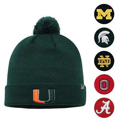 c2ff270d0cf NCAA TOP OF the World Simple Cuffed Knit Hat with Pom -  4.99