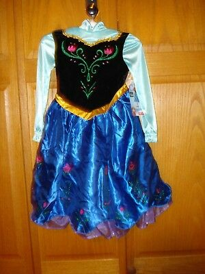 NWT Girls Disney Frozen ANNA Costume with Cape Size 3T-4T