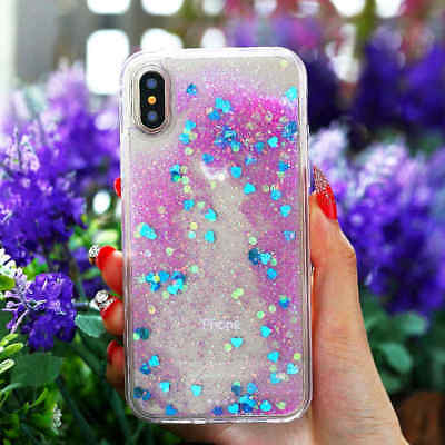 Deluxe Dynamic Liquid Glitter Quicksand Hard Case For iPhone 10 X  8 6 6s 7 Plus