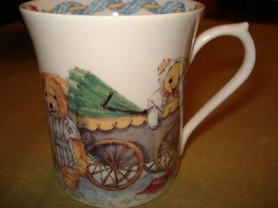 """Queens China """"Tales of Teddies"""" Colour Box Fine Bone China Childs Handled Cup"""