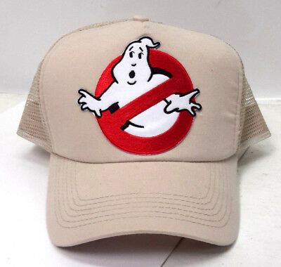 Ghostbusters No Ghosts Logo Baseball Trucker Cosplay Cap Hat on Tan Cap 9ab09bd9d106
