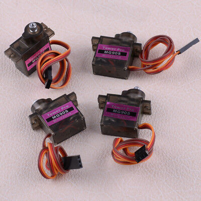 4pcs MG90S Micro Metal Gear 9g Servo for RC Plane Helicopter Boat Car 4.8V 6V
