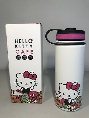 Hello Kitty Cafe Exclusive Thermal Water Bottle 18 oz NIB