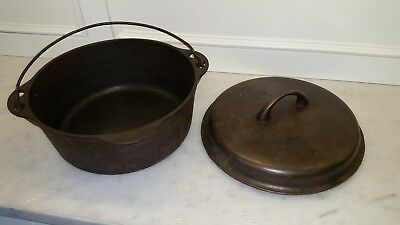 VINTAGE GRISWOLD #8 No 8 TITE TOP CAST IRON DUTCH OVEN 1278A Lid 1037B ERIE PA