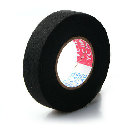 Tesa Coroplast Adhesive Cloth Tape for Cable Harness Wiring Loom 19mmx15m Black