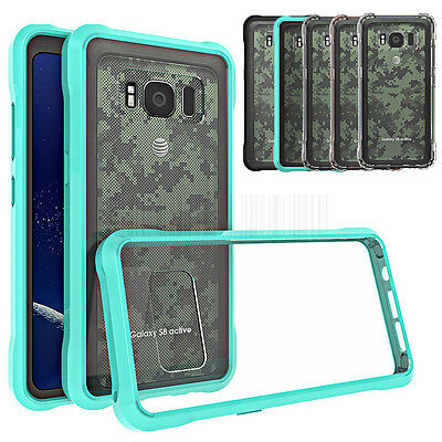 Hybrid Clear TPU Case Shockproof Bumper Back Cover For Samsung Galaxy S8 Active