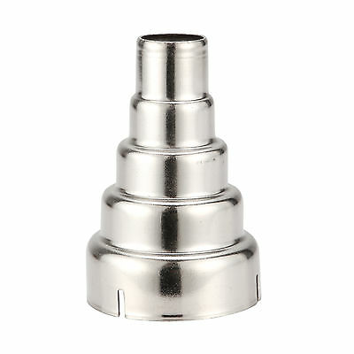 Heat Gun Nozzles Silver Stainless Steel 5 Layer Reducing Nozzle Accessories