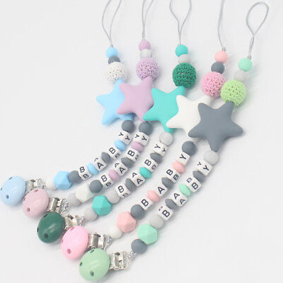 NEW DIY Chew Toy Silicone  Soother Pacifier Chain Baby Teething Dummy Clips