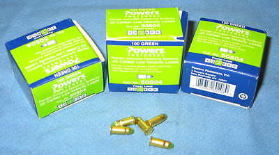 3 Boxes of 100 Green #3 POWERS FASTENERS #50504 .22 Cal Low Velocity Powder Load