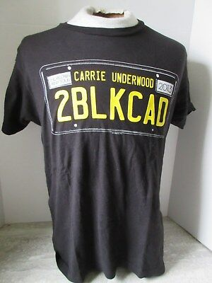 2013 Carrie Underwood The Blown Away Tour 2BLKCAD Licence Plate T-Shirt Size M
