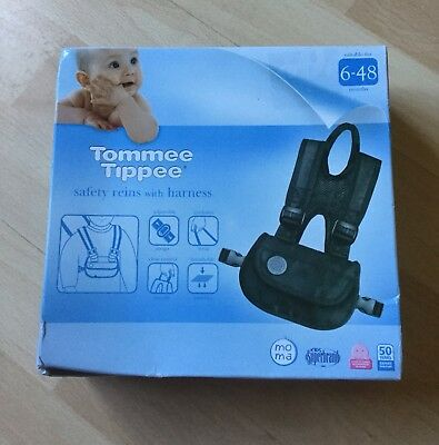 Tommie Tippee Safety Reins With Harness New In Box Walking Safety Aid 6-48 Month