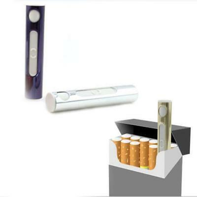 Mini Slim USB Electric Rechargeable Flameless Windproof Cigarette Lighter No Gas