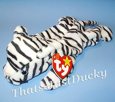 BEANIE BABY Beanie Babies BLIZZARD the JUNGLE CAT VGC Free Shipping